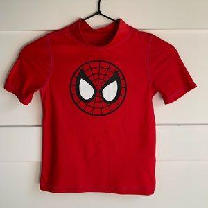 MARVEL | EUC Spider Man Red SS Rash Guard 5T
